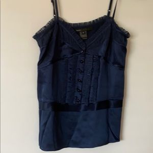 Marc Jacobs silk roushed top, size 2, $65